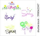 spring  flower background ...   Shutterstock .eps vector #598062347