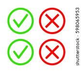 check marks. | Shutterstock .eps vector #598065953