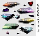 abstract polygonal jewel bubble ... | Shutterstock . vector #598082363