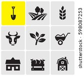 farming icons | Shutterstock .eps vector #598087253