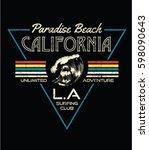 80's style vintage print design ... | Shutterstock .eps vector #598090643