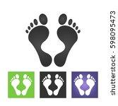 footprint icon | Shutterstock .eps vector #598095473