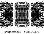 grunge black and white urban... | Shutterstock .eps vector #598102373