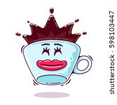a cup of coffee  coffee and a... | Shutterstock .eps vector #598103447