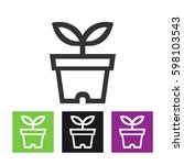 vector flower icon | Shutterstock .eps vector #598103543