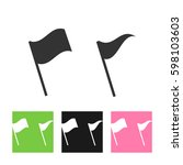 flag vector icon. location...