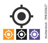 gps vector icon | Shutterstock .eps vector #598103627