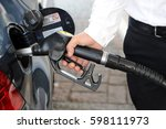 the cost of fuel increases  ... | Shutterstock . vector #598111973