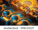 pistons. garage auto repair... | Shutterstock . vector #598114127