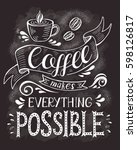coffee banner with quote on the ... | Shutterstock .eps vector #598126817