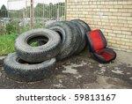 old tires | Shutterstock . vector #59813167