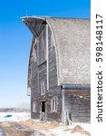 Abandoned Barn In Winter