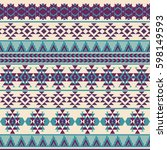 ethnic seamless pattern with...   Shutterstock .eps vector #598149593