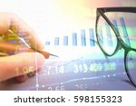 various type of financial and...   Shutterstock . vector #598155323