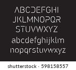 thin font. futuristic font.... | Shutterstock .eps vector #598158557