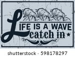 quote typographical background... | Shutterstock .eps vector #598178297