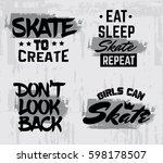collection of quote... | Shutterstock .eps vector #598178507