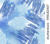 seamless pattern tie dye design.... | Shutterstock . vector #598182407