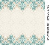 seamless border raster ornate... | Shutterstock . vector #598201787