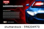 digital vector blue new modern... | Shutterstock .eps vector #598204973