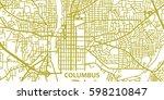 detailed vector map of columbus ... | Shutterstock .eps vector #598210847
