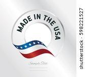 made in usa transparent logo... | Shutterstock .eps vector #598221527
