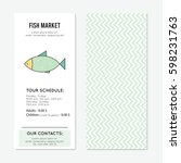 fish market vector vertical... | Shutterstock .eps vector #598231763
