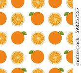 orange background. seamless... | Shutterstock .eps vector #598257527