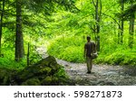 Young Hiker Man With Bag In A...