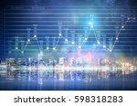 modern business city background ... | Shutterstock . vector #598318283
