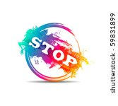 modern colorful stop stamp | Shutterstock .eps vector #59831899