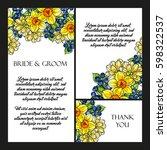 romantic invitation. wedding ... | Shutterstock .eps vector #598322537