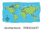 world map doodle   Shutterstock .eps vector #598322657