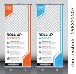 roll up brochure flyer banner... | Shutterstock .eps vector #598325507