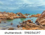 rocky coast of koh samui in... | Shutterstock . vector #598356197