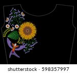 Embroidery Sunflower With...