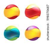 abstract circle ribbon symbol... | Shutterstock .eps vector #598370687