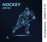 hockey player consists of... | Shutterstock .eps vector #598377173