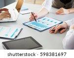 image of human hands during...   Shutterstock . vector #598381697