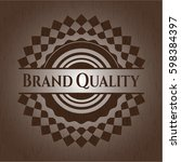 brand quality retro style... | Shutterstock .eps vector #598384397