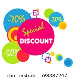 special offer sale tag discount ... | Shutterstock . vector #598387247