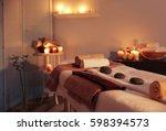 interior of modern massage room ... | Shutterstock . vector #598394573