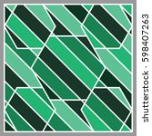 green tone stripe shape and... | Shutterstock .eps vector #598407263