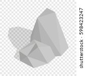 stones isometric icon 3d on a... | Shutterstock . vector #598423247