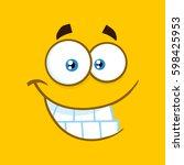smiling cartoon square... | Shutterstock .eps vector #598425953