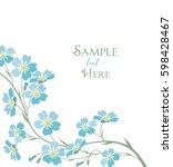 vector illustration blue... | Shutterstock .eps vector #598428467