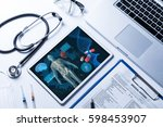 medical technology concept ... | Shutterstock . vector #598453907