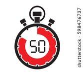 fifty minute stop watch... | Shutterstock .eps vector #598476737