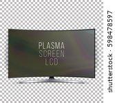 screen lcd plasma vector.... | Shutterstock .eps vector #598478597