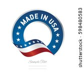 made in usa label logo icon... | Shutterstock .eps vector #598480583